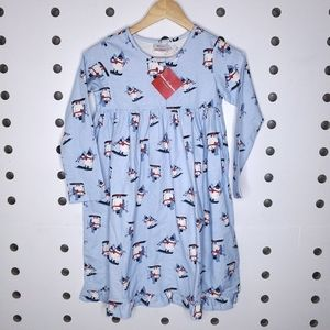 NWT Hanna Andersson Snowman Pajama Nightgown